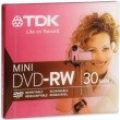 TDK Mini DVD-RW Media,1.4 GB, 2X, Jewel Case