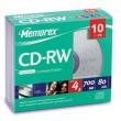 Memorex CDRW 80 10PK Slim 1-4X