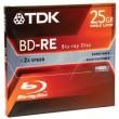 TDK  Rewritable Blu-ray, 25 GB, 2X BD-RE, Jewel Case