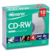 Memorex 4x CD-RW Media, 700MB, 10 Pack Slimline Jewel Case